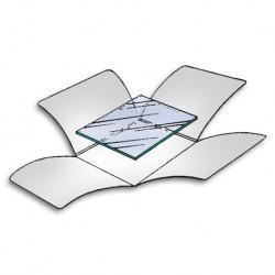 Etuis quatre rabats pHoton ™ pour plaque en verre et film négatifs.