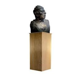 Socle à statue en bois naturel