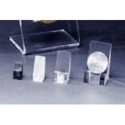 Support carré pour médaille, pièce ou objet plat