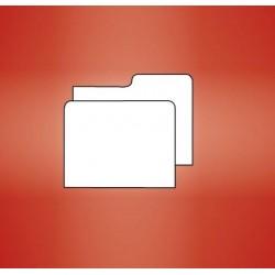Intercalaires pour boîtes à cartes postales